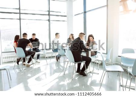 Business people in modern office #1112405666