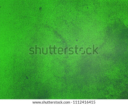 Bright green abstract textured background texture to the point with bright spots of paint. Blank background design banner. #1112416415