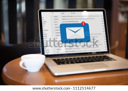 Mail Communication Connection message to mailing contacts phone Global Letters Concept #1112514677
