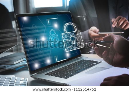 CYBER SECURITY Business technology secure Firewall Antivirus Alert Protection Security and Cyber Security Firewall #1112514752