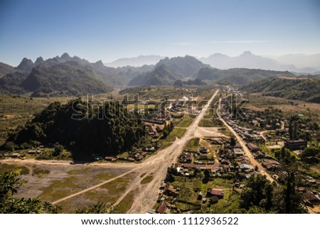Long Chieng, Long Tieng LAO PDR In 1962 the CIA first set up a headquarters for Major General Vang Pao in the Long Tieng valley, which at that time had almost no inhabitants #1112936522