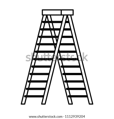 stepladder tool isolated icon #1112939204
