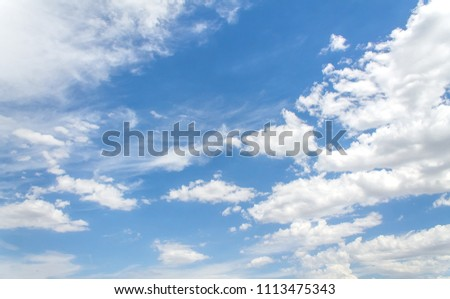 Beautiful white clouds in the sky #1113475343