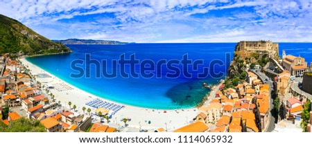 Italian summmer holidays. beautiful beaches and towns of Calabria - Scilla #1114065932