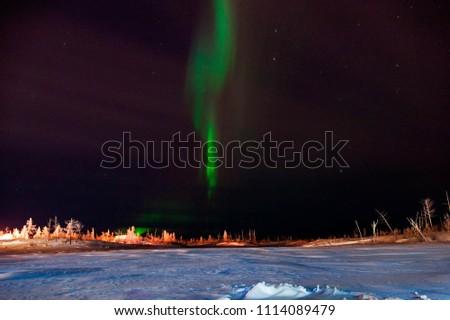 aurora borealis in the night #1114089479