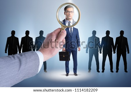 Recruitment and employment concept with selected employee Royalty-Free Stock Photo #1114182209