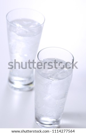 Carbonated water on white background #1114277564
