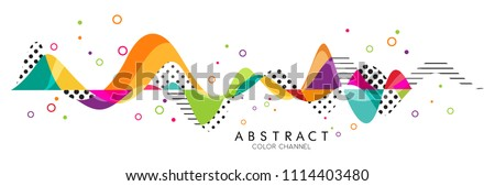 Abstract Fluid creative templates with dynamic linear waves.cards, color covers set. Geometric design Royalty-Free Stock Photo #1114403480