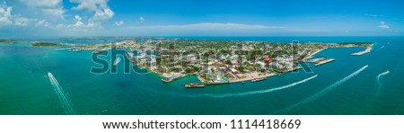 Aerial panorama of Key West Florida USA #1114418669