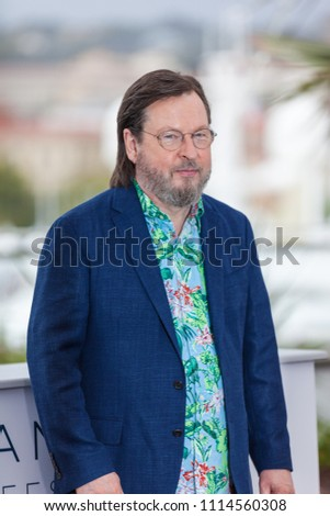 CANNES, FRANCE - MAY 14, 2018: Director Lars Von Trier attends the photocall for the 'The House That Jack Built' during the 71st annual Cannes Film Festival #1114560308