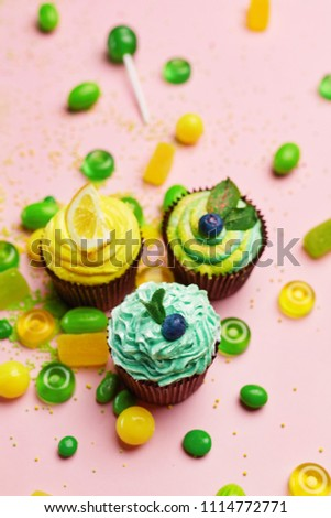 Cupcakes And Candies. Sweets #1114772771