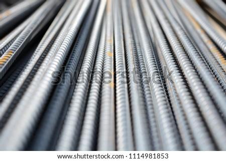 Construction rebar steel work reinforcement in conncrete structure of building #1114981853
