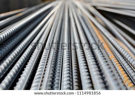 Construction rebar steel work reinforcement in conncrete structure of building #1114981856