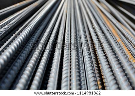 Construction rebar steel work reinforcement in conncrete structure of building #1114981862