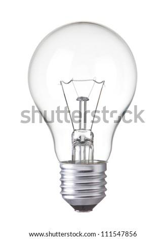 Light bulb, isolated, Realistic photo image Royalty-Free Stock Photo #111547856