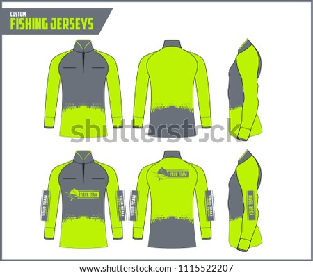 Fishing Jersey Custom Vector Design Template #1115522207