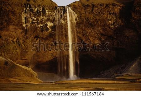 Seljalandsfoss waterfall in Iceland #111567164