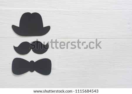 Happy Father Day mustache on white background #1115684543