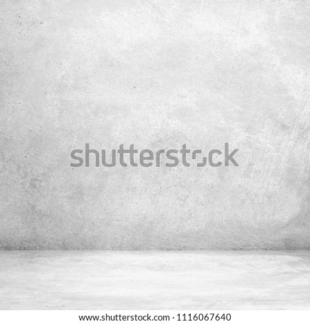 Abstract grungy white concrete wall texture background,gray wall and floor interior backdrop for design art work. #1116067640
