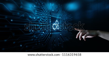 Automation Software Technology Process System Business concept. #1116319658