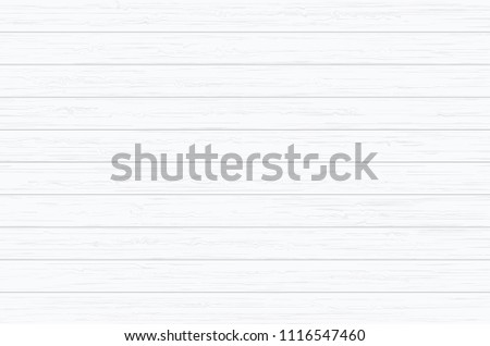White wood plank texture for background. Vector illustration. #1116547460
