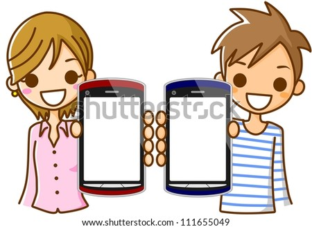 Smartphone Man Woman