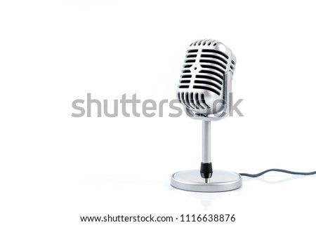 Microphone retro isolated on white background. #1116638876