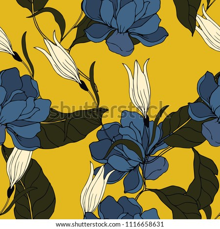 Abstract elegance pattern with floral background.  #1116658631
