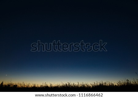 Stars in the night sky. A view of outer space at dusk. Royalty-Free Stock Photo #1116866462
