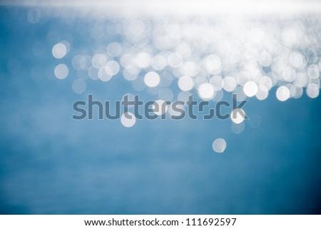 Light shining on the lake #111692597