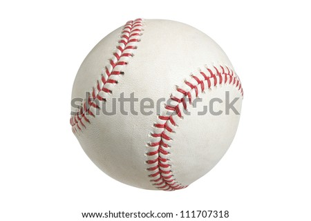 Baseball isolated on white with clipping path Royalty-Free Stock Photo #111707318