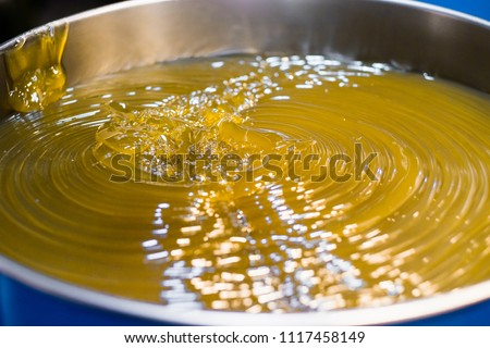 Lubricant of grease (Lithium normal NLGI 3). Yellow appearance in the blue drum. The high viscosity of grease which used in industrial (machine, equipment) and automotive (wheel bearing).  #1117458149