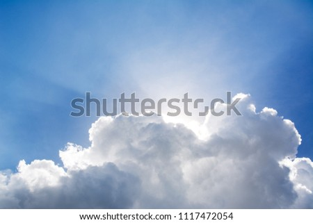 White cloud and blue sky  background #1117472054