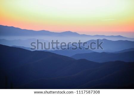 Smoky Mountain Sunset #1117587308