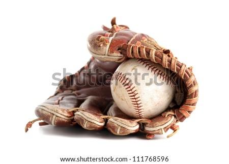 Baseball glove Royalty-Free Stock Photo #111768596