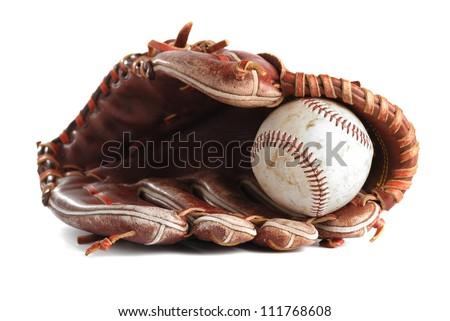 Baseball glove Royalty-Free Stock Photo #111768608
