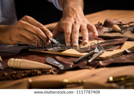 Handmade Leather Craftsman Royalty-Free Stock Photo #1117787408