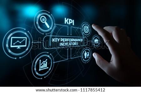 KPI Key Performance Indicator Business Internet Technology Concept. #1117855412