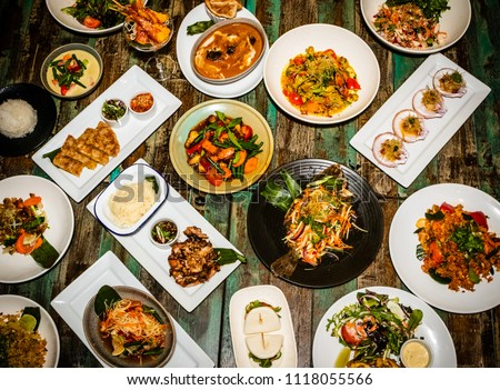Thai food on white background #1118055566