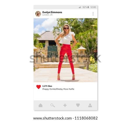 Sample design of photo sharing mobile app