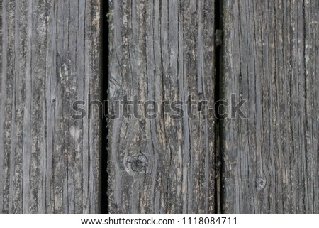 Old wooden walkway weathered from the years #1118084711