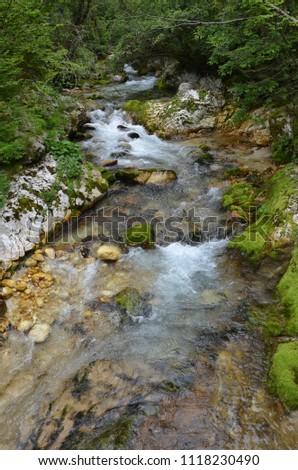 The Soca River in the Triglav National Park, Slovenia #1118230490