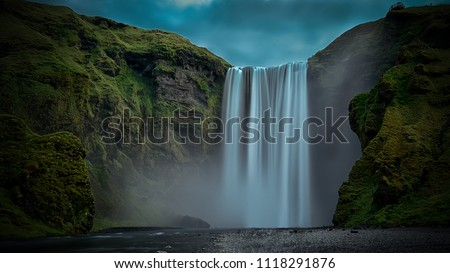 Skogafoss waterfall Iceland Long exposure