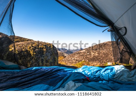 Tent with a (mountain) view. Photo taken while camping on top of Sapitwa Peak on the Mulanje Massif in Malawi.