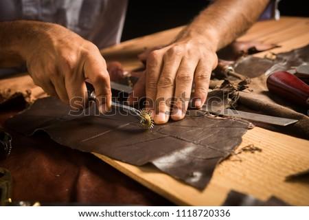 Handmade Leather Craftsman Royalty-Free Stock Photo #1118720336