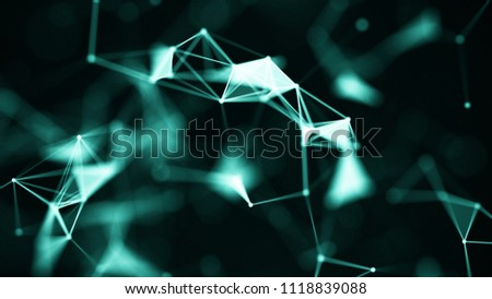Abstract digital background. Big data visualization. Network connection structure. Science background. #1118839088