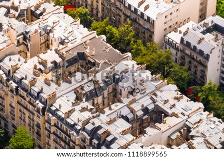 Apartments in Paris from above #1118899565