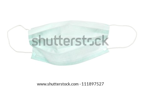 Medical mask isolated on white background #111897527