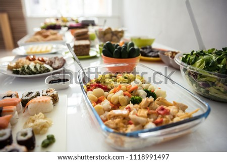 Close-up Of A Fresh Food On Wooden Table #1118991497