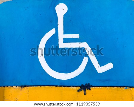 wheelchair signal, disability wheelchair #1119057539